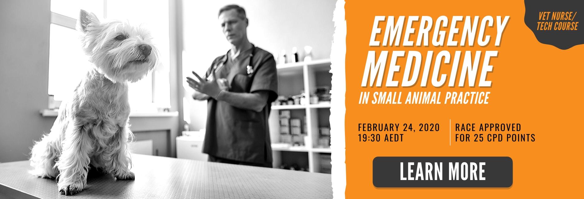 emergency medicine - vet nurse tech course 2020